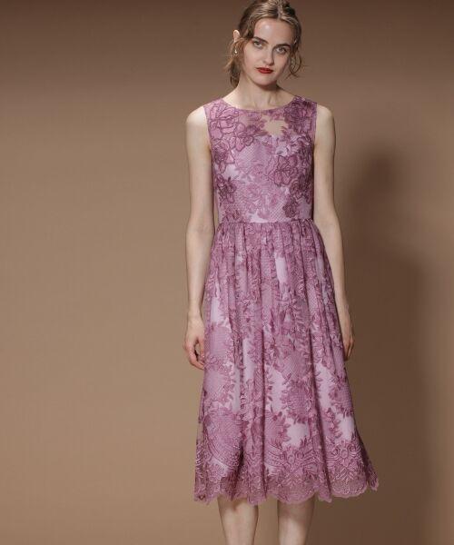 GRACE CONTINENTAL / グレースコンチネンタル ドレス | トリミングレースワンピース | 詳細1