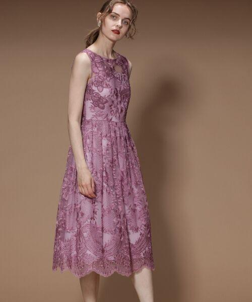 GRACE CONTINENTAL / グレースコンチネンタル ドレス | トリミングレースワンピース | 詳細2