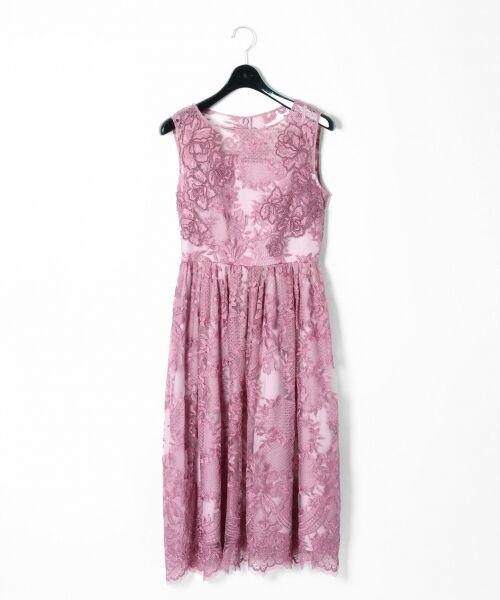 GRACE CONTINENTAL / グレースコンチネンタル ドレス | トリミングレースワンピース | 詳細3
