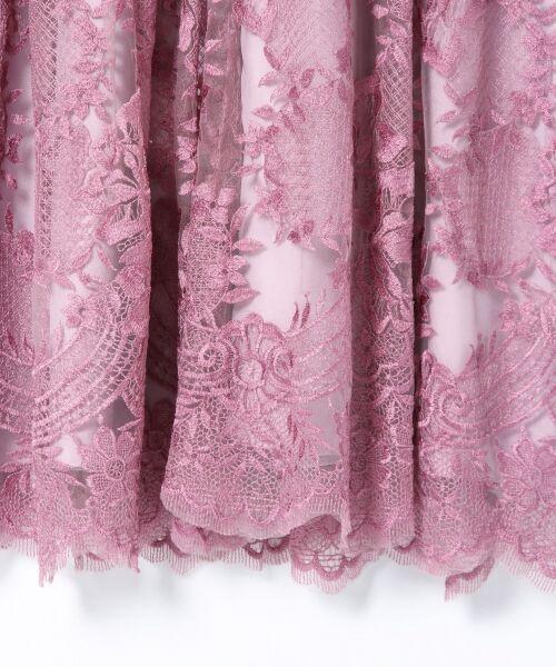 GRACE CONTINENTAL / グレースコンチネンタル ドレス | トリミングレースワンピース | 詳細8