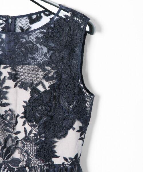 GRACE CONTINENTAL / グレースコンチネンタル ドレス | トリミングレースワンピース | 詳細10