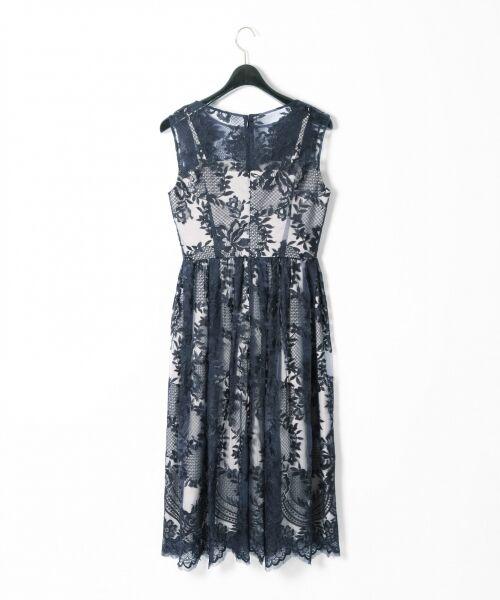 GRACE CONTINENTAL / グレースコンチネンタル ドレス | トリミングレースワンピース | 詳細15