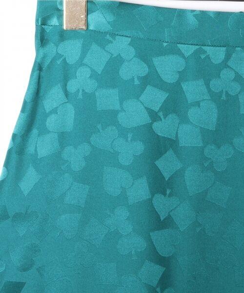 GRACE CONTINENTAL / グレースコンチネンタル ミニ・ひざ丈スカート | シルクサテンジャガードスカート | 詳細1