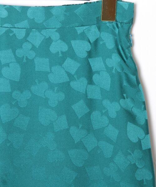 GRACE CONTINENTAL / グレースコンチネンタル ミニ・ひざ丈スカート | シルクサテンジャガードスカート | 詳細2