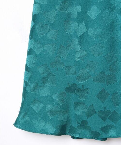 GRACE CONTINENTAL / グレースコンチネンタル ミニ・ひざ丈スカート | シルクサテンジャガードスカート | 詳細4