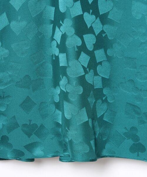GRACE CONTINENTAL / グレースコンチネンタル ミニ・ひざ丈スカート | シルクサテンジャガードスカート | 詳細5