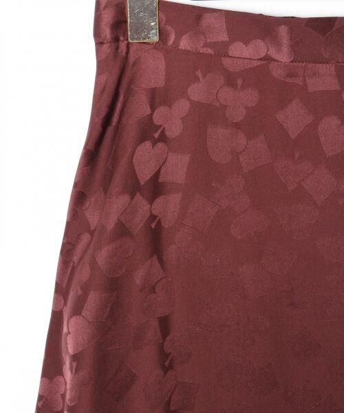 GRACE CONTINENTAL / グレースコンチネンタル ミニ・ひざ丈スカート | シルクサテンジャガードスカート | 詳細9
