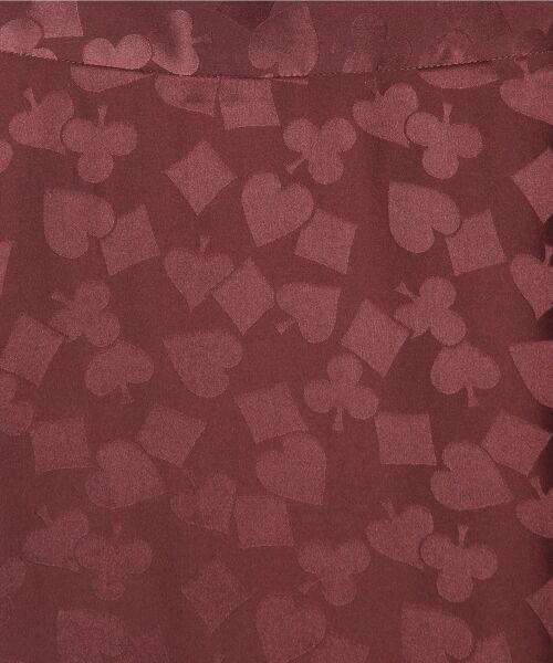 GRACE CONTINENTAL / グレースコンチネンタル ミニ・ひざ丈スカート | シルクサテンジャガードスカート | 詳細10