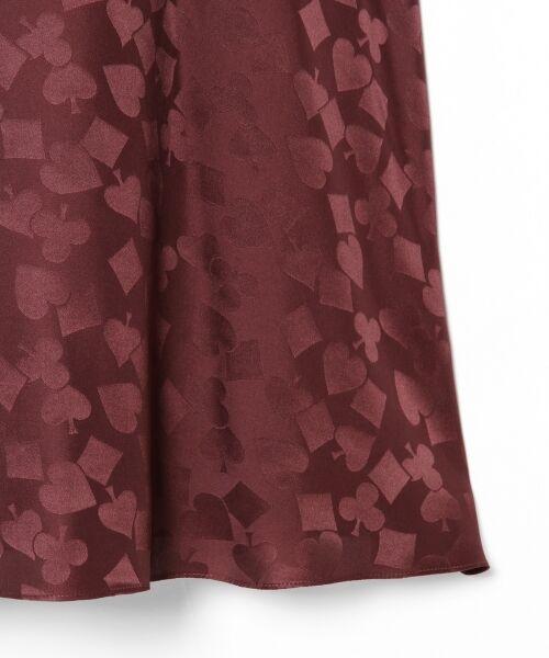 GRACE CONTINENTAL / グレースコンチネンタル ミニ・ひざ丈スカート | シルクサテンジャガードスカート | 詳細11