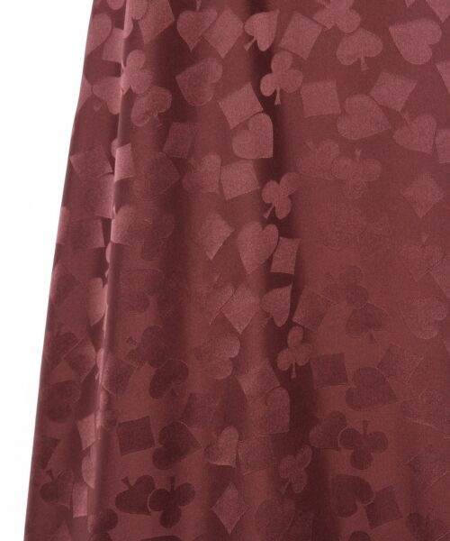 GRACE CONTINENTAL / グレースコンチネンタル ミニ・ひざ丈スカート | シルクサテンジャガードスカート | 詳細12