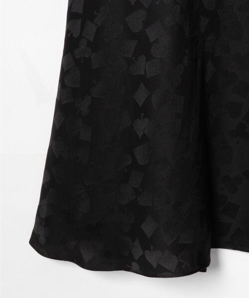 GRACE CONTINENTAL / グレースコンチネンタル ミニ・ひざ丈スカート | シルクサテンジャガードスカート | 詳細23