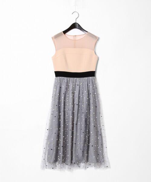 6c20fcb235a42 ドット刺繍チュールワンピース (ドレス)|GRACE CONTINENTAL ...