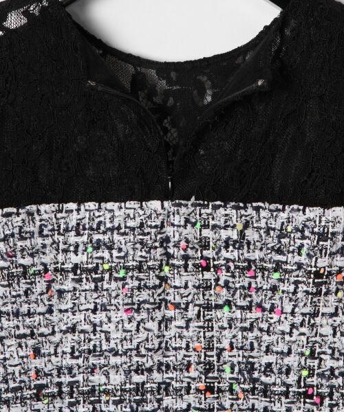 GRACE CONTINENTAL / グレースコンチネンタル ドレス | ネオンネップツイードワンピース | 詳細10