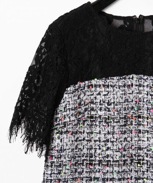 GRACE CONTINENTAL / グレースコンチネンタル ドレス | ネオンネップツイードワンピース | 詳細5