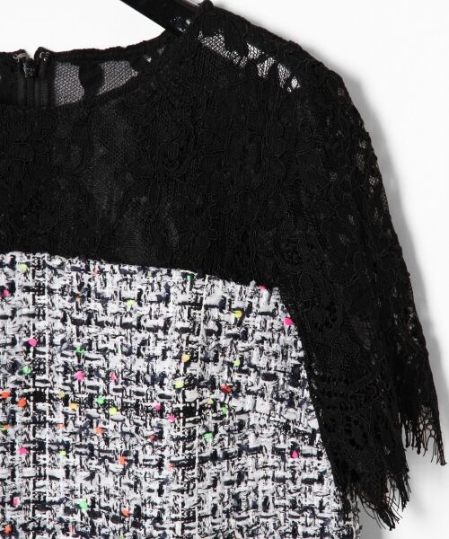 GRACE CONTINENTAL / グレースコンチネンタル ドレス | ネオンネップツイードワンピース | 詳細6