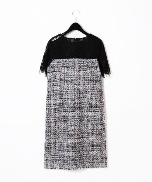 GRACE CONTINENTAL / グレースコンチネンタル ドレス | ネオンネップツイードワンピース | 詳細9
