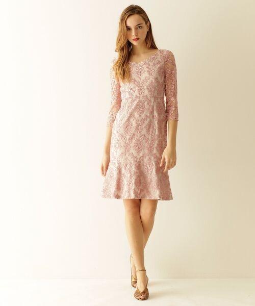 GRACE CONTINENTAL / グレースコンチネンタル ドレス | 刺繍マーメイドワンピース(ピンク)