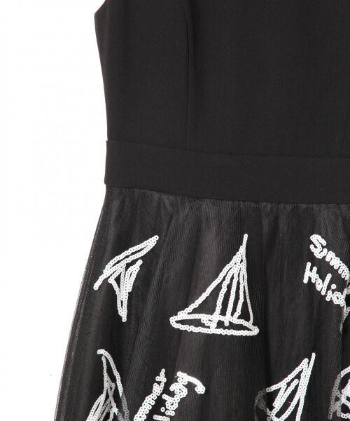 GRACE CONTINENTAL / グレースコンチネンタル ドレス | チュールスパンコール刺繍ワンピース | 詳細11