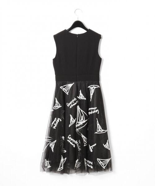 GRACE CONTINENTAL / グレースコンチネンタル ドレス | チュールスパンコール刺繍ワンピース | 詳細15