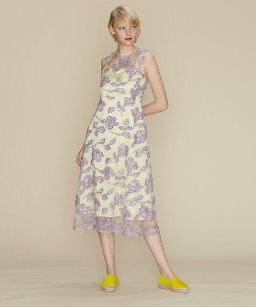 64a009c857465 フラワー刺繍チュールワンピース (ドレス)|GRACE CONTINENTAL ...
