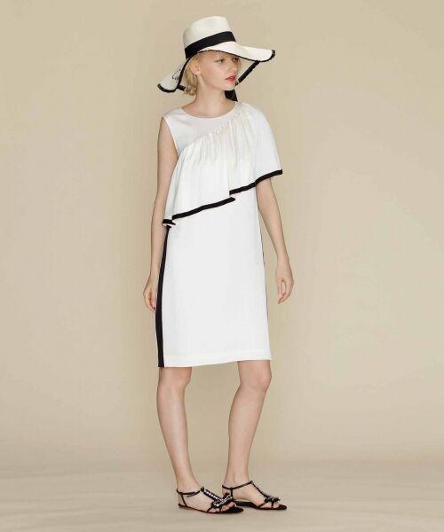 GRACE CONTINENTAL / グレースコンチネンタル ドレス   ライン配色ラッフルドレス   詳細1