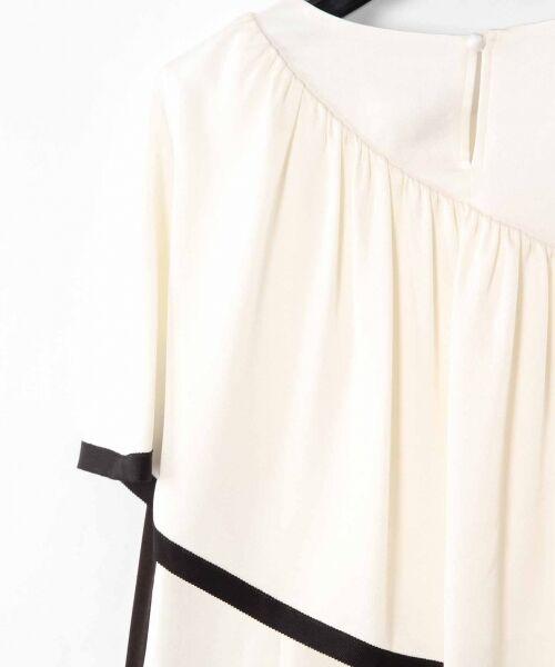 GRACE CONTINENTAL / グレースコンチネンタル ドレス   ライン配色ラッフルドレス   詳細10
