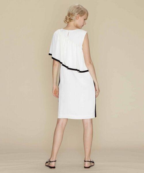 GRACE CONTINENTAL / グレースコンチネンタル ドレス   ライン配色ラッフルドレス   詳細3
