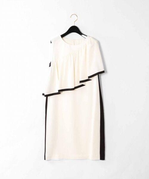 GRACE CONTINENTAL / グレースコンチネンタル ドレス   ライン配色ラッフルドレス   詳細4