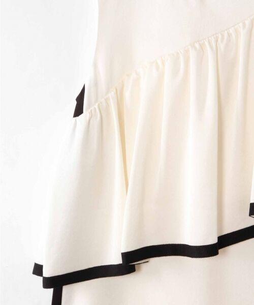 GRACE CONTINENTAL / グレースコンチネンタル ドレス   ライン配色ラッフルドレス   詳細6