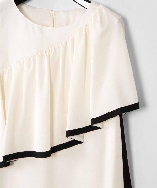 GRACE CONTINENTAL / グレースコンチネンタル ドレス   ライン配色ラッフルドレス   詳細7