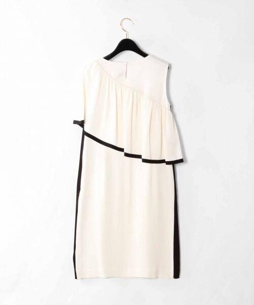 GRACE CONTINENTAL / グレースコンチネンタル ドレス   ライン配色ラッフルドレス   詳細9