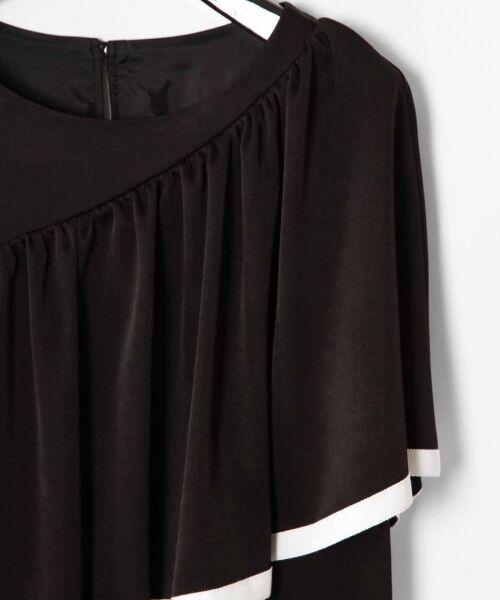 GRACE CONTINENTAL / グレースコンチネンタル ドレス   ライン配色ラッフルドレス   詳細12
