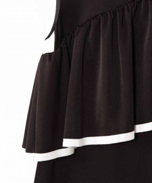 GRACE CONTINENTAL / グレースコンチネンタル ドレス   ライン配色ラッフルドレス   詳細13