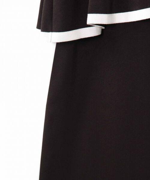 GRACE CONTINENTAL / グレースコンチネンタル ドレス   ライン配色ラッフルドレス   詳細14