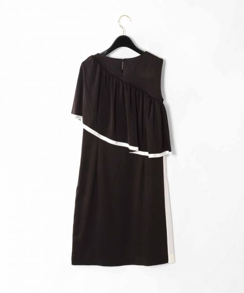 GRACE CONTINENTAL / グレースコンチネンタル ドレス   ライン配色ラッフルドレス   詳細17
