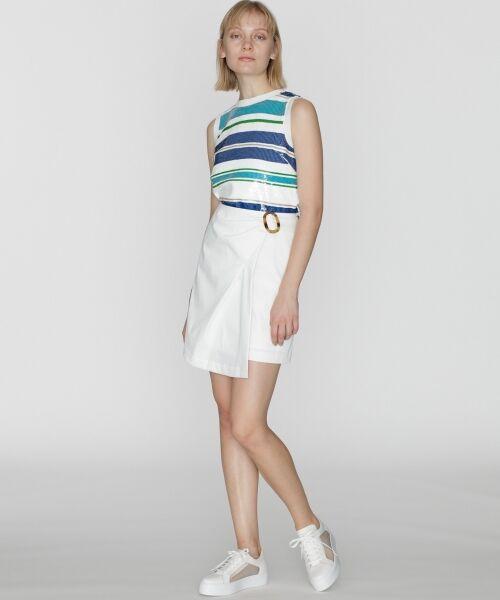 GRACE CONTINENTAL / グレースコンチネンタル ミニ・ひざ丈スカート | タックミニスカート(キナリ)