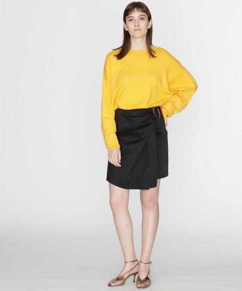 GRACE CONTINENTAL / グレースコンチネンタル ミニ・ひざ丈スカート | タックミニスカート(ブラック)