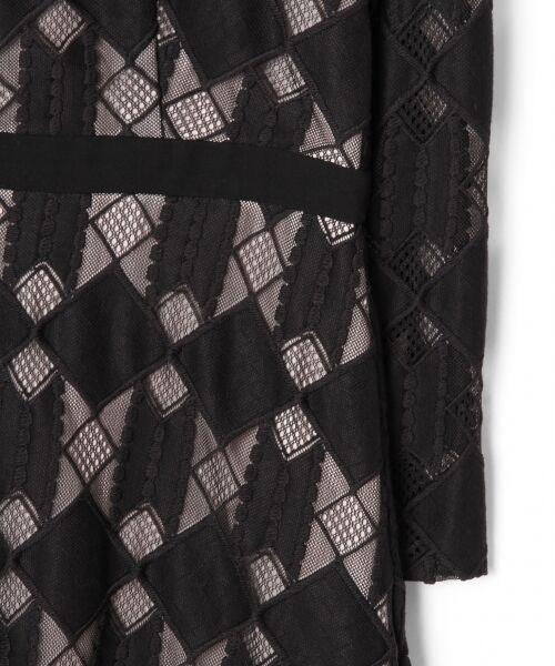 GRACE CONTINENTAL / グレースコンチネンタル ドレス | ジオメトリックレースワンピース | 詳細11