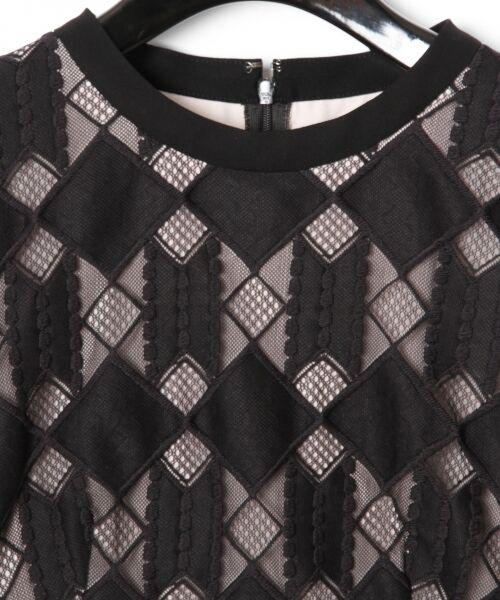 GRACE CONTINENTAL / グレースコンチネンタル ドレス | ジオメトリックレースワンピース | 詳細12
