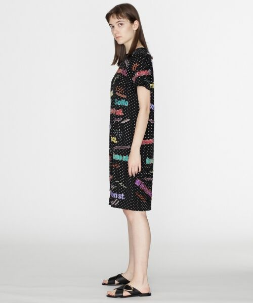GRACE CONTINENTAL / グレースコンチネンタル ドレス | ロゴスパンワンピース | 詳細2
