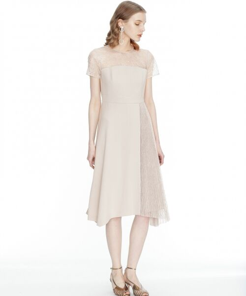 GRACE CONTINENTAL / グレースコンチネンタル ドレス | レースプリーツ切替ワンピース | 詳細1