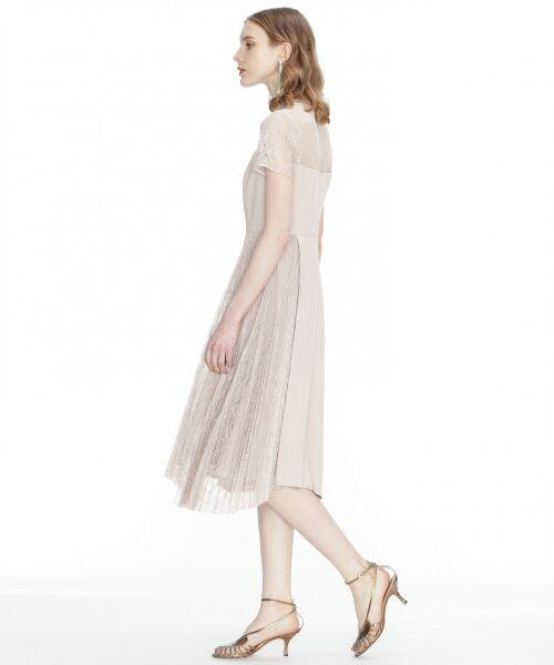 GRACE CONTINENTAL / グレースコンチネンタル ドレス | レースプリーツ切替ワンピース | 詳細2