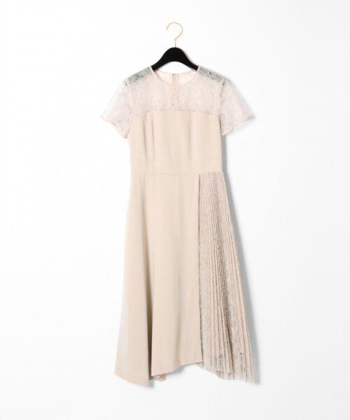 GRACE CONTINENTAL / グレースコンチネンタル ドレス | レースプリーツ切替ワンピース | 詳細4