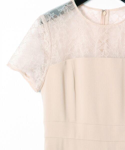 GRACE CONTINENTAL / グレースコンチネンタル ドレス | レースプリーツ切替ワンピース | 詳細6