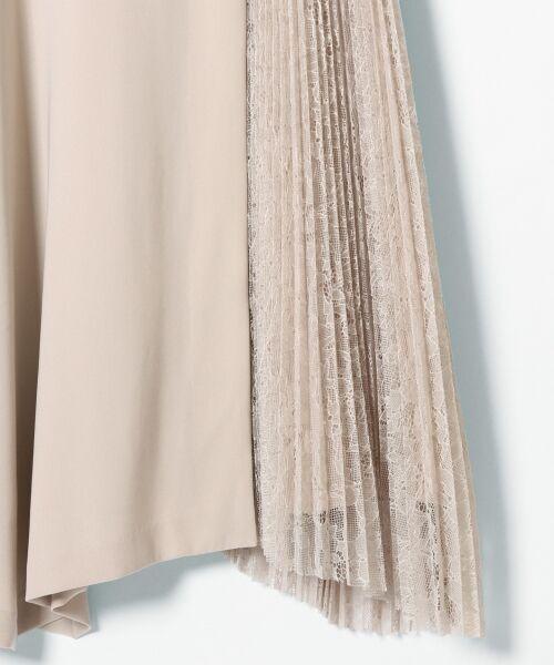 GRACE CONTINENTAL / グレースコンチネンタル ドレス | レースプリーツ切替ワンピース | 詳細8