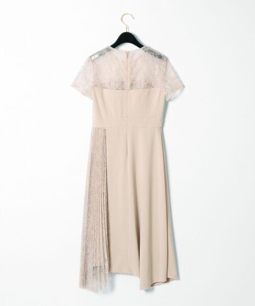 GRACE CONTINENTAL / グレースコンチネンタル ドレス | レースプリーツ切替ワンピース | 詳細9