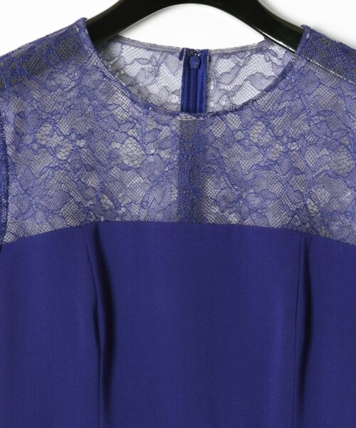 GRACE CONTINENTAL / グレースコンチネンタル ドレス | レースプリーツ切替ワンピース | 詳細10