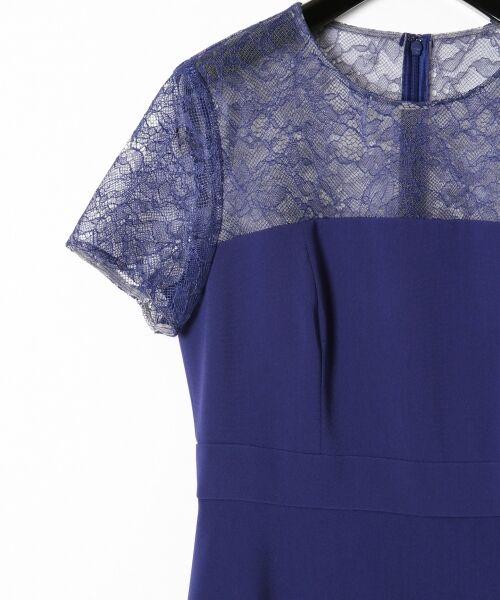 GRACE CONTINENTAL / グレースコンチネンタル ドレス | レースプリーツ切替ワンピース | 詳細11