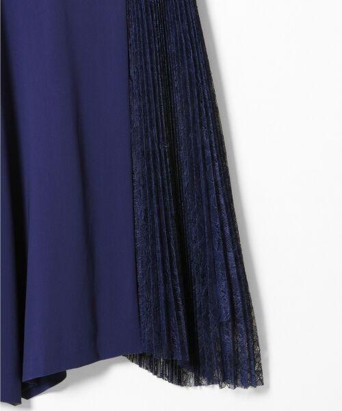 GRACE CONTINENTAL / グレースコンチネンタル ドレス | レースプリーツ切替ワンピース | 詳細12