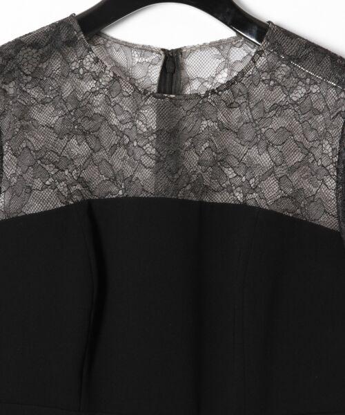 GRACE CONTINENTAL / グレースコンチネンタル ドレス | レースプリーツ切替ワンピース | 詳細14